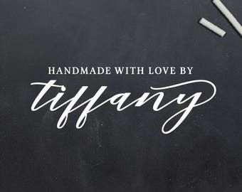 Handmade With Love Stamp, Handmade By Stamp, Crafting Stamp, Gift For Crafter, Custom Name Stamp, Made With Love, Custom Rubber Stamp (S142)
