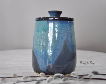 Pottery, Pottery Canister, Canister with Lid, Wheel Thrown Pottery, Ceramic, Pottery Canister with Lid, Wheel Thrown Canisters, Functional