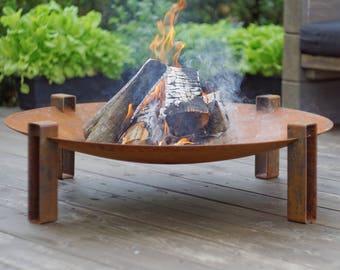Steel Fire Pit Maar / Solid Steel Outdoor Heater / Garden Heater