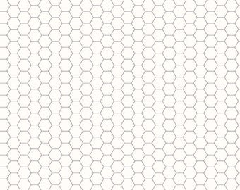 1 Yard Bee Backgrounds by Lori Holt for Riley Blake Designs- 6397 Honeycomb Gray