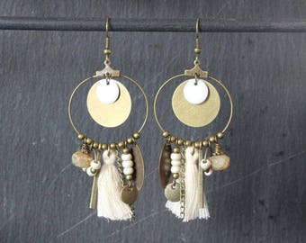 hoop earrings, hoop tassel earrings, ethnic hoops, hoops, hoops, Bohemian hippie, Gypsy, hoop earrings, boho hoop earrings