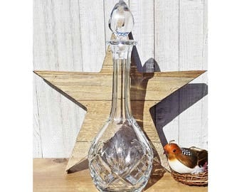 Vintage Saint Louis Chantilly Crystal Wine Decanter With Stopper Made In  France Original Sticker U0026 Signed