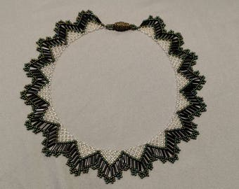Green and Clear Beaded necklace