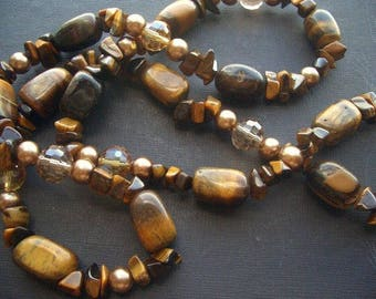 Tiger's eye and Brown crystals means