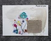 """Carte artistique """"fleurs des champs"""""""