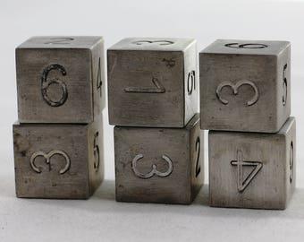 Zucati Dice: Magnesium 6d6 Set Square Corners