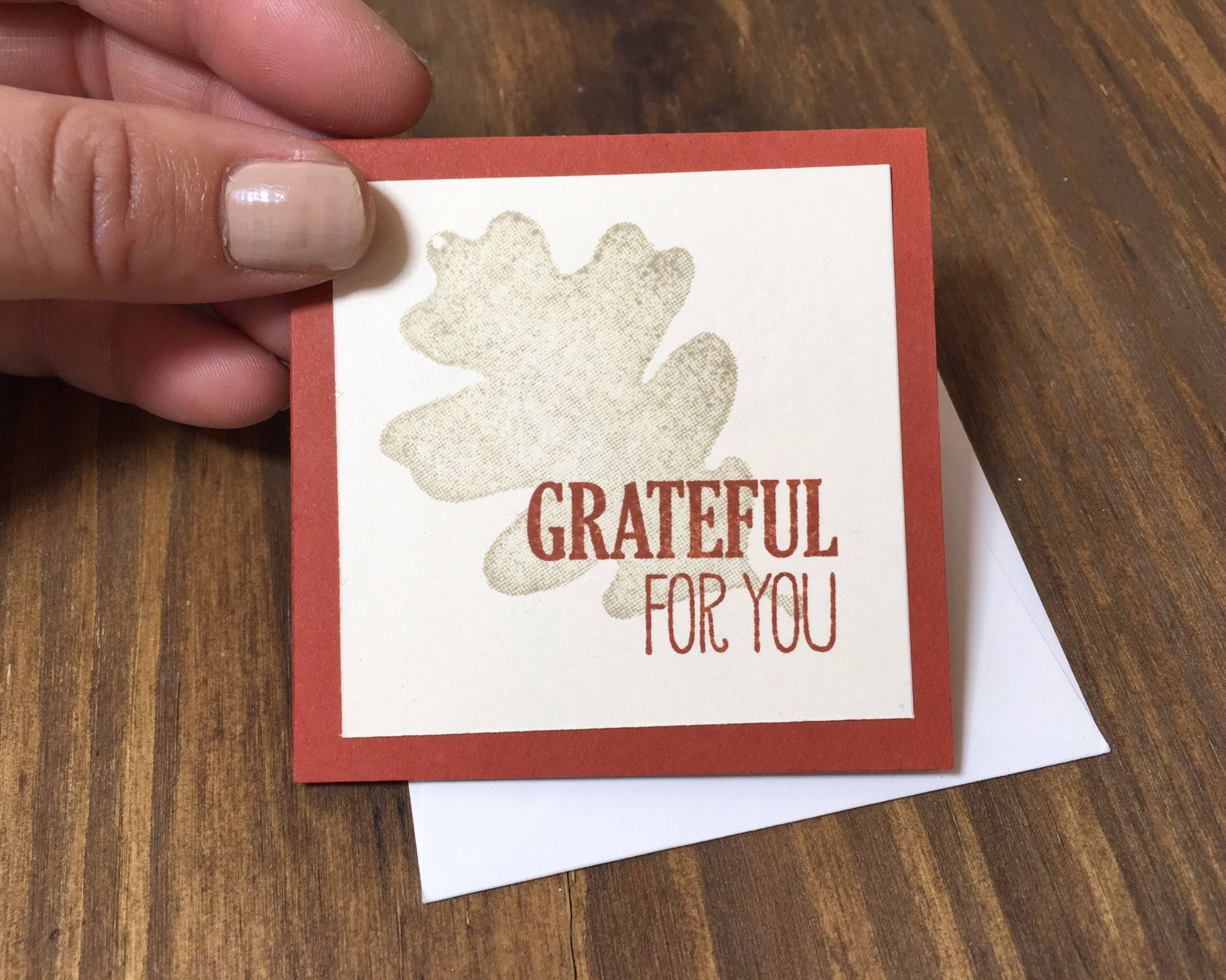 Mini grateful for you hand stamped greeting card mini note card mini grateful for you hand stamped greeting card mini note card mini thank you m4hsunfo