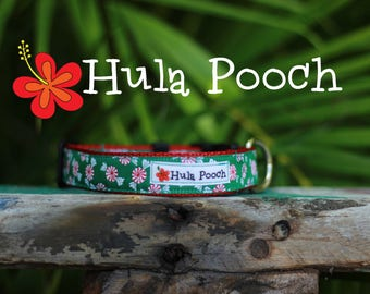 "Christmas Dog Collar / Holiday Dog Collar:  ""Peppermint"" Small, Medium, Large, Wide,Adjustable // FREE SHIPPING"