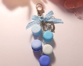 """Bags """"Macaroons"""" blue Fimo jewelry"""