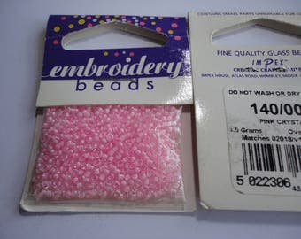 seed fine embroidery 2mm (005) girly pink
