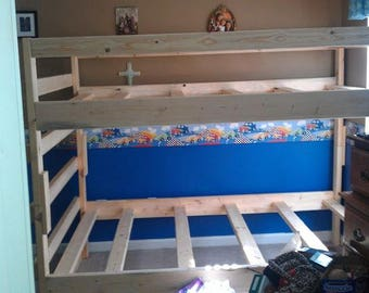 Twin bunkbed with ladder