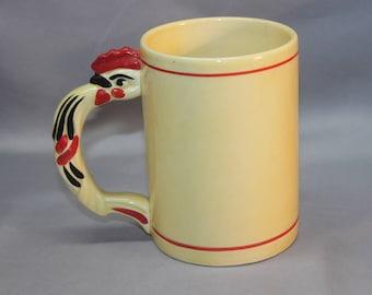 Czech Ditmar Urbach Rare Rooster Mug Czechoslovakia Erphila