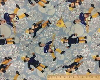 FIREMAN SAM digital printed cotton lycra knit fabric W17JA0104 - 1 meter