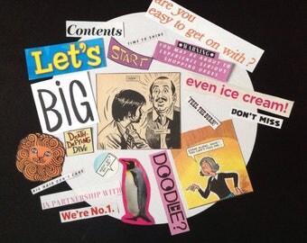 Scrapbooking Craft Kit, Scrapbook Ephemera, Scrapbook Embellishments, Junk Journal Kit, Glue Book Ephemera, Smash Book Cut Outs, Collage Kit