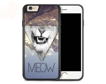 Meow Lion Hipster Geometric Case for iPhone 7 iPhone 7 Plus iPhone 6s iPhone 6s Plus iPhone 6 iPhone 6 Plus iPhone SE iPhone 5s iPhone 5c