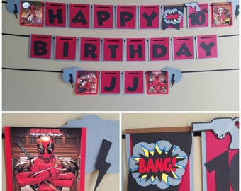 Deadpool Birthday Banner, Deadpool Banner, Deadpool Birthday, Deadpool