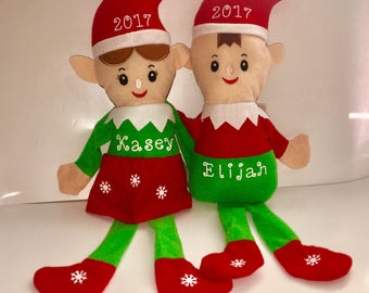 Christmas Elves - Personalized Elf - Holiday Elves - Christmas Plushies - Stocking Stuffers - Christmas Stuffed Characters