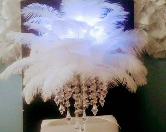 Feather Ball/ Feather Centerpiece/ Feather arrangement /Wedding centerpiece/Centerpiece for Wedding
