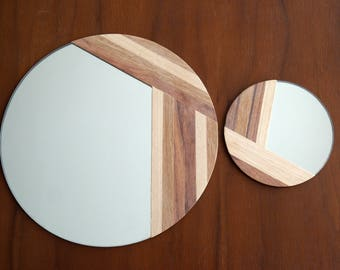 2 marquetry mirrors