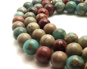 8mm Natural Serpentine Beads Round 8mm Serpentine 8mm Serpentine Beads Serpentine 8mm Multicolor Beads Natural