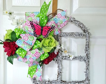 Spring Door Hanger, Floral Wall Decor, Floral Door Hanger, Door Decor