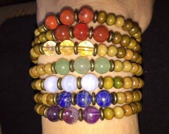 Reiki Charged Chakra Healing Bracelet Set