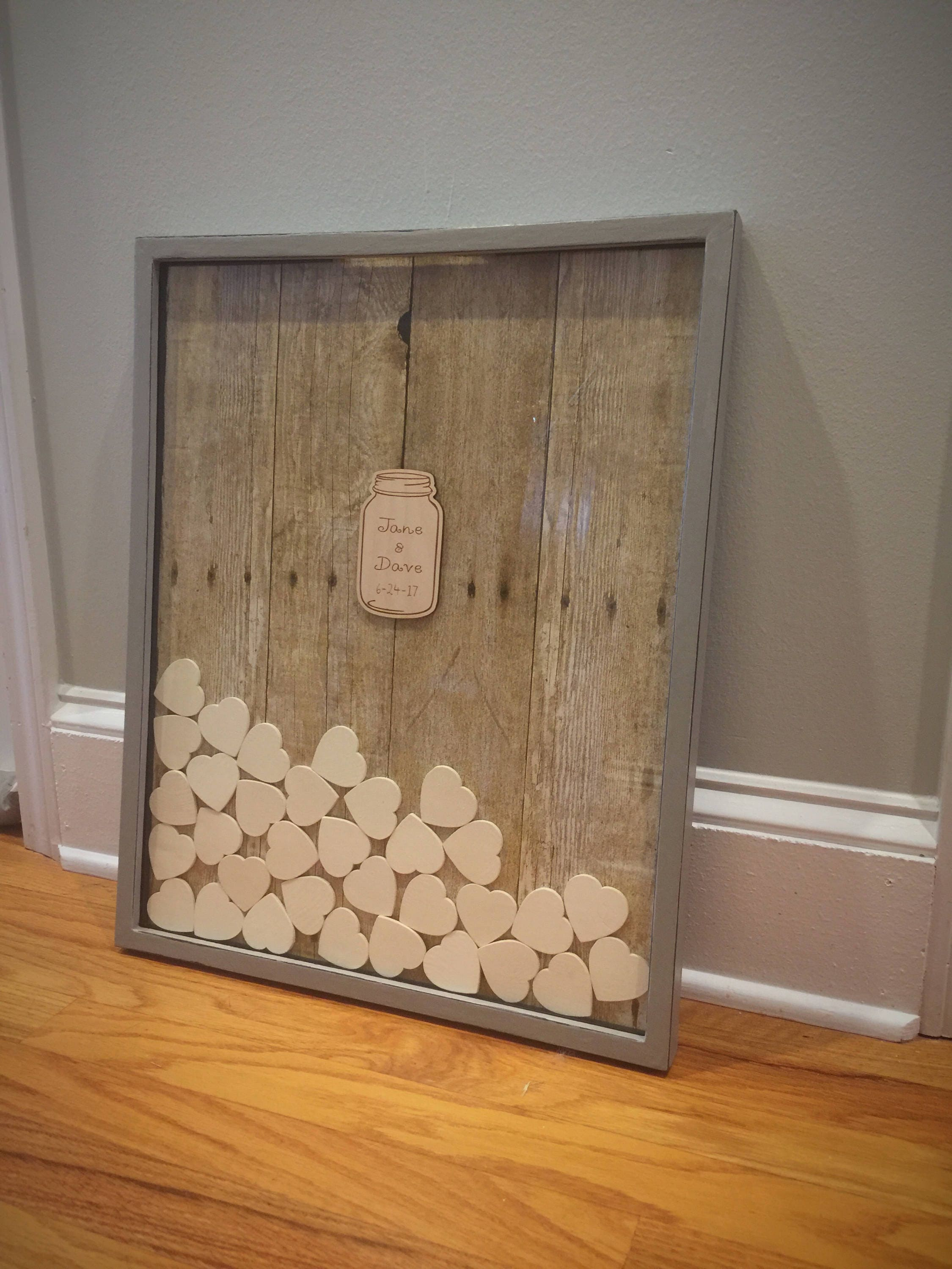 Unique Wedding Guest Book Frame Country Wedding Baby Shower