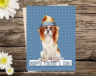 Printable  Card, Fathers Day Greeting Card, Dog Printable Cards, Digital Download, Dog