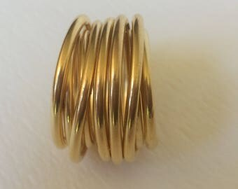 Wide gold ring - Wide gold band