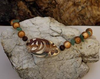 Charming Raku focal point bracelet