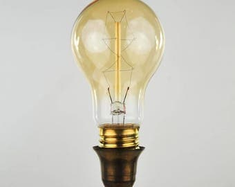 Antique Style Edison Medium Base Globe Bulb with Zig-Zag Filament