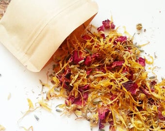 Botanical Facial Steam, flower petals, skin care, cleansing, rose, lavender, chamomile, calendula, herbal skin, skin cleansing, floral