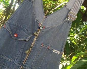 Vintage 60's denim jumpsuit overalls