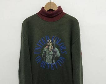 BIG SALE Vintage United Colors Of Benetton Sweatshirt,Benetton Big Logo,Benetton Spell Out,Benetton Italy
