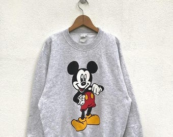 20% OFF Vintage Mickey Mouse Sweatshirt/Mickey Mouse Sweater/Mickey Mouse Disney/Cartoon Shirt/Mickey Mouse Big Print/Pullover