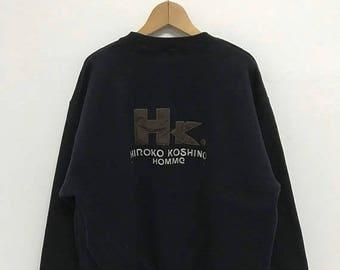 20% OFF Vintage Hiroko Koshino Homme Sweatshirt/Hiroko Koshino Shirt/Hiroko Koshino Pullover/Designer Shirt