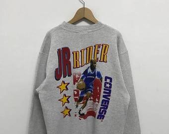 20% OFF Vintage Converse Jr  Rider Sweatshirt/Converse Usa/Converse Sweater/Converse Basketball Sweater