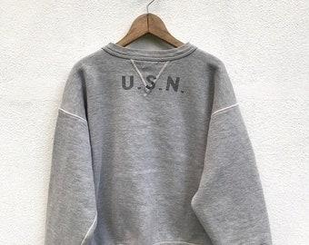 20% OFF Vintage USN Real McCOY's Crewneck / Mccoy Sweatshirt / Usn Shirt / Japanese Brands