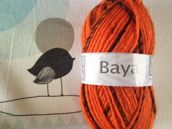 BAYA wool neon orange - white horse