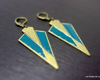 Earrings art deco triangles