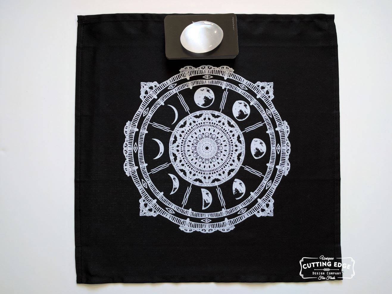 Moon Phases Compass Altar Cloth Tarot Cloth Divination