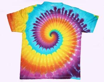 Size XXL Tie Dye Rainbow Spiral Psychedelic Swirl T-shirt