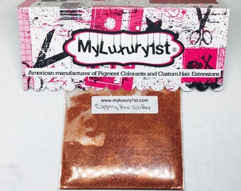 Coppery Red Ultra Fine Brilliant Craft and Body Glass Glitter Sparkling Mirror cut Glittering soap making Solvent resistant Copper eye