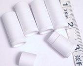 White Lip Balm container, Mini twist up lip balm containers, lip balm tube, lip balm samples set of 15
