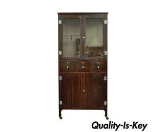 Vintage Bathroom Cabinets For Storage vintage bathroom storage cabinet   etsy