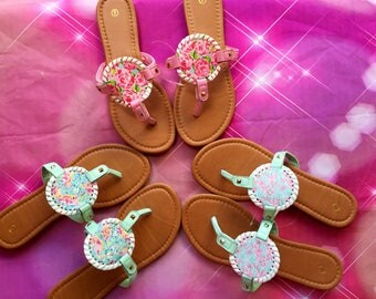 Lilly Pulitzer sandals ! New Hot Summer items