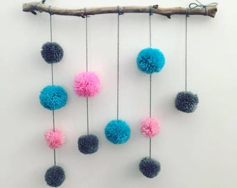 Pops of Colour Pompom Wall Hanging