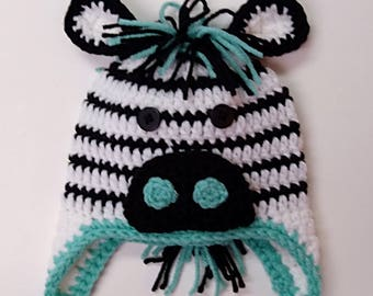 Zebra Baby Hat * Made to Order