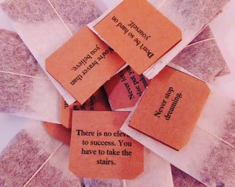 Box of 20 Individually Tagged Teabags with Positive Thoughts messages