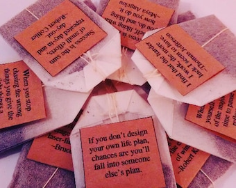 Jar of 20 Individually Tagged Teabags with Motivational Quotes
